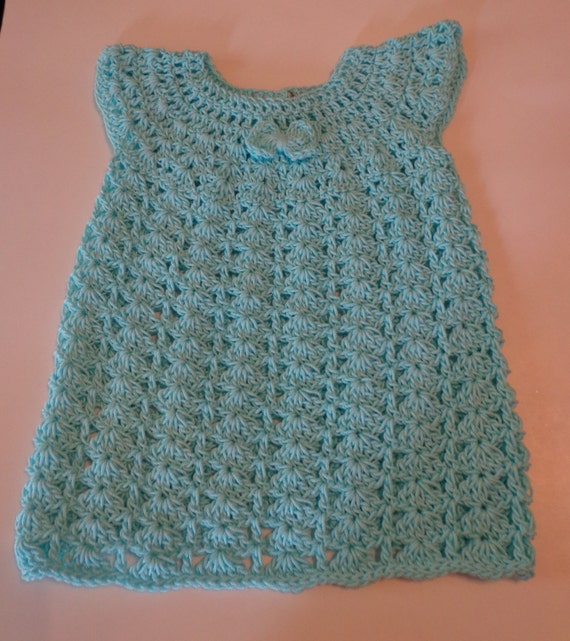Sale! Infant Girl Aqua Crochet Dress size 18-24 months