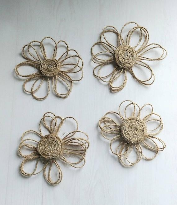 Twine Flowers Set of 4
