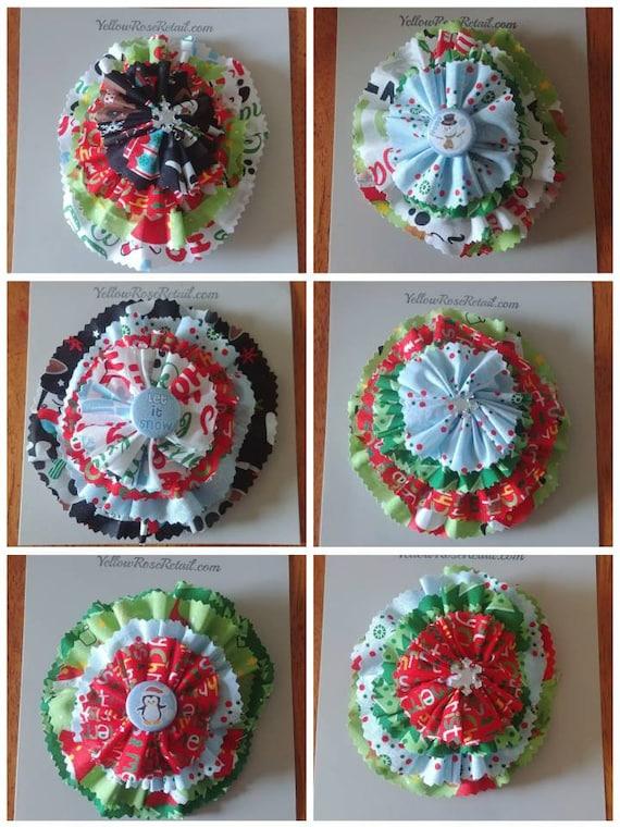 Christmas Fabric Bows