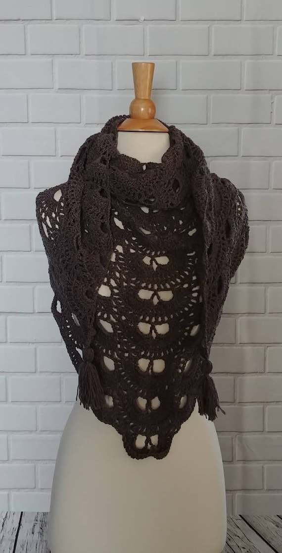 Charcoal Gray Virus Shawl/Scarf