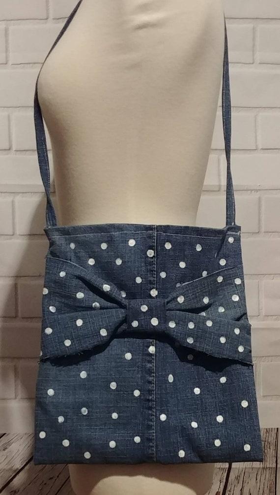 Upcycled Denim Bow Bag