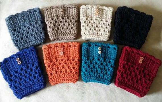Logan Boot Cuffs Crochet Pattern. Digital Download Only.