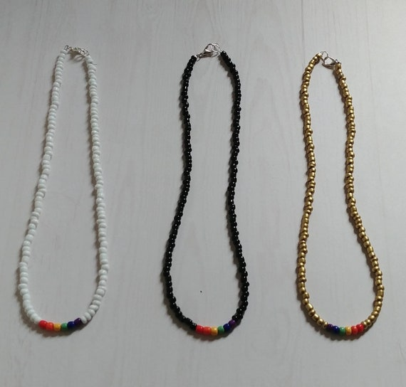 Seed Bead Necklaces, 3 to choose from
