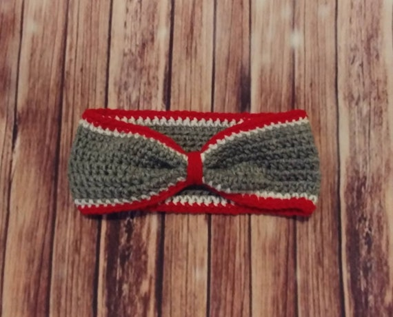 Buckeye Bow-Style Ear Warmer