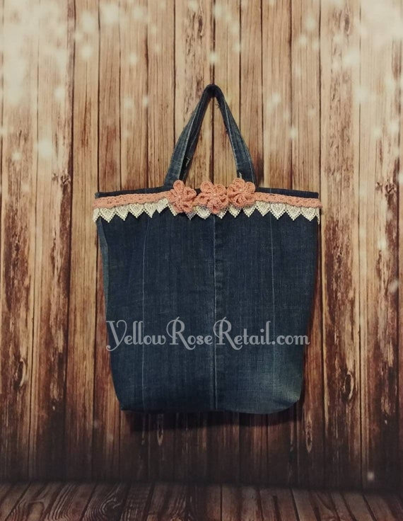Sale! Upcycled Denim Tote Bag