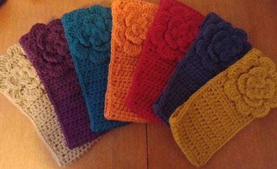 Flower Earwarmer, Woman's Earwarmer, Crochet Earwarmer, Ear Warmer, Womans Accessories, Winter Wear, Free Shipping
