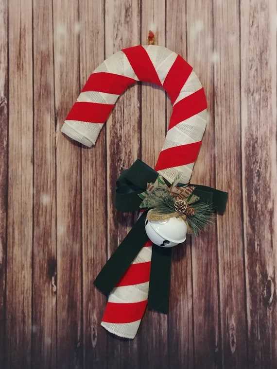 Candy Cane Door Hanger, Candy Cane Wreath, Christmas Door Hanger, Christmas Wreath, Holiday Decor, Christmas Decor, Candy Cane