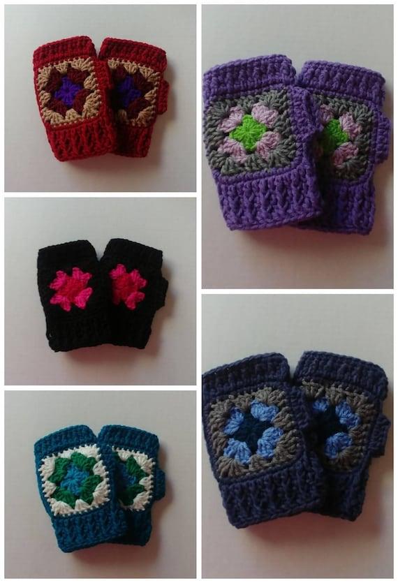 Granny Square Fingerless Gloves