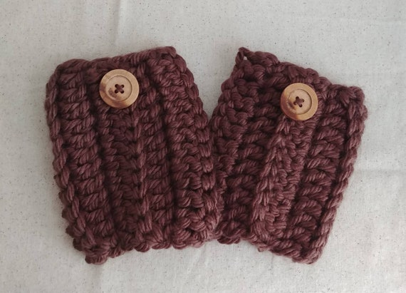 Brown Chunky Boot Cuffs