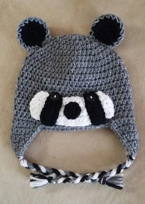 Raccoon Earflap Hat