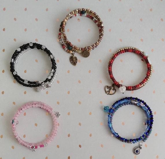 Multi-strand Beaded Bracelets, 5 to Choose From
