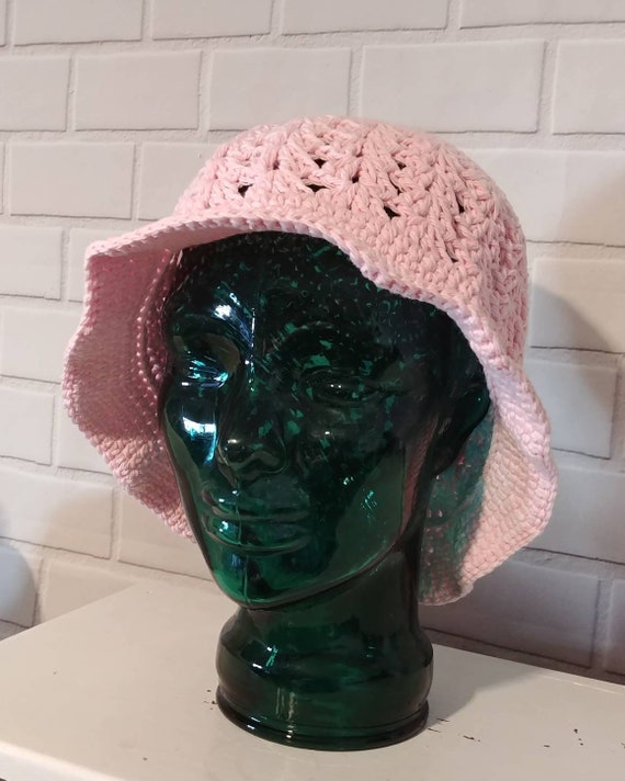 Pink Cotton Sun Hat XL Adult Size
