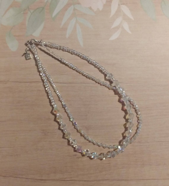 Crystal Beaded 2 Strand Necklace