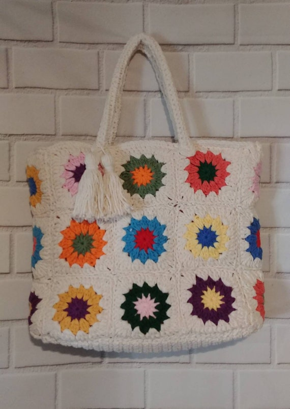 Crochet Sunburst Bag