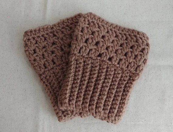 Latte Ribbed Boot Cuffs