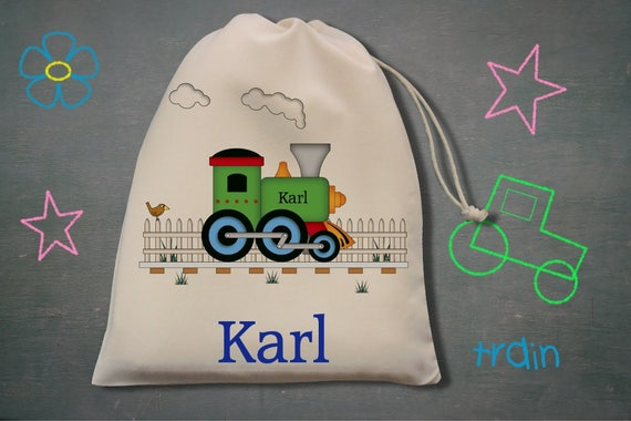 Girls Ideal for PE Boys Dancing Personalised Tractor Drawstring Bag Gym