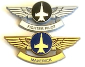Top Gun Maverick Navy F-18 Fighter Pilot Halloween Costume Party Wings Pins