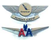 AMERICAN AIRLINES Kiddie Wings Pilot Pins Set of 2