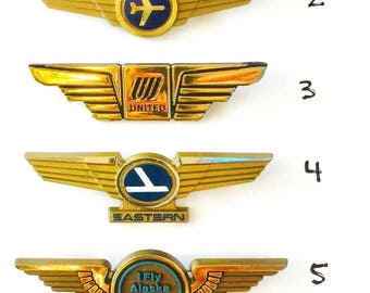 Pick Your Own Kids Aviator Airplane Pilot Wing Pin (Comes Sealed in Pilot Wing Pin Package)