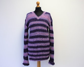 Long Sleeves Nordic Cardigan Sweater Scandinavian Ski Cardigan Norwegian Sweater Winter Patterned Jumper Size Medium to Large
