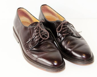 Vintage Brown Leather LLOYD Lace Up Pointed Casual Classic Formal Shoes Size 8  42