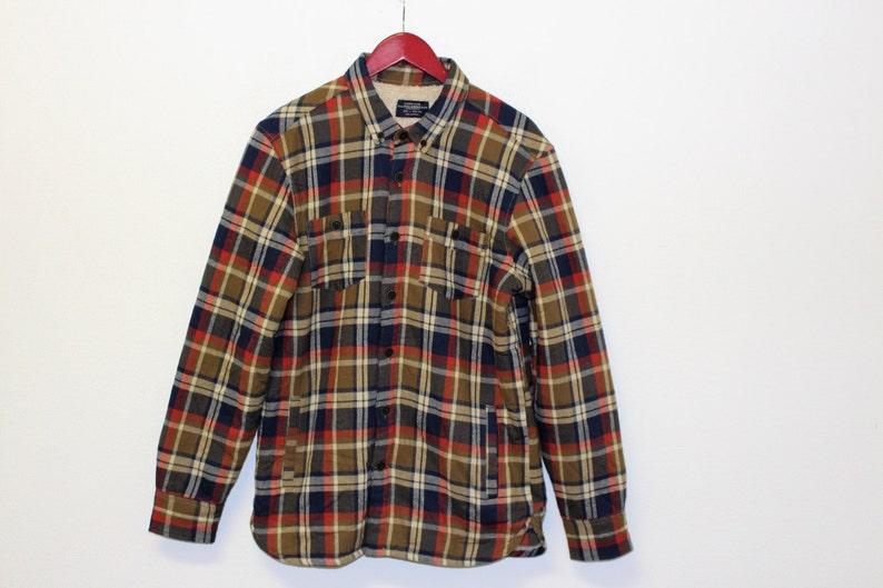 7d077875a508f Mens Flannel Jacket Outerwear Lumberjack Plaid Brand PULL