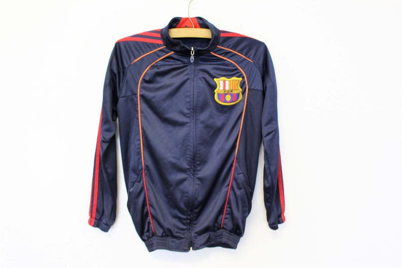 b54b9fefaf6 FC BARCELONA Jacket Sports Full Zip Up track Jacket Men's | Etsy