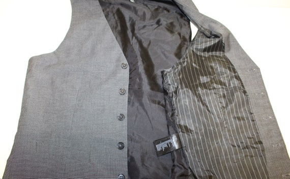 Mens Gray Waistcoat/ Mens  Wedding Vest/ Formal V… - image 3