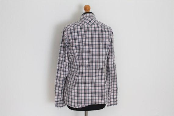 Long Womens Medium White Vintage Tartan Gray Marc Red 100Cotton Sleeves Plaid Size Shirt O'polo VSpqUzMG