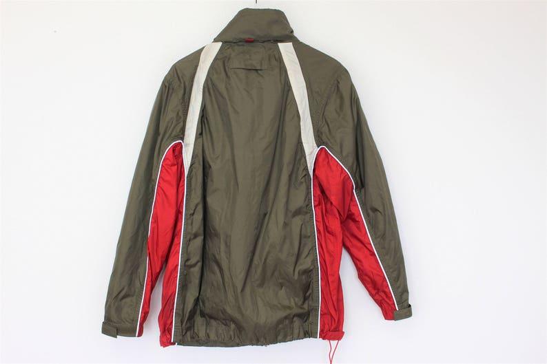Vintage Mens Sports Jacket Red Green Windbreaker Khaki Retro Etsy