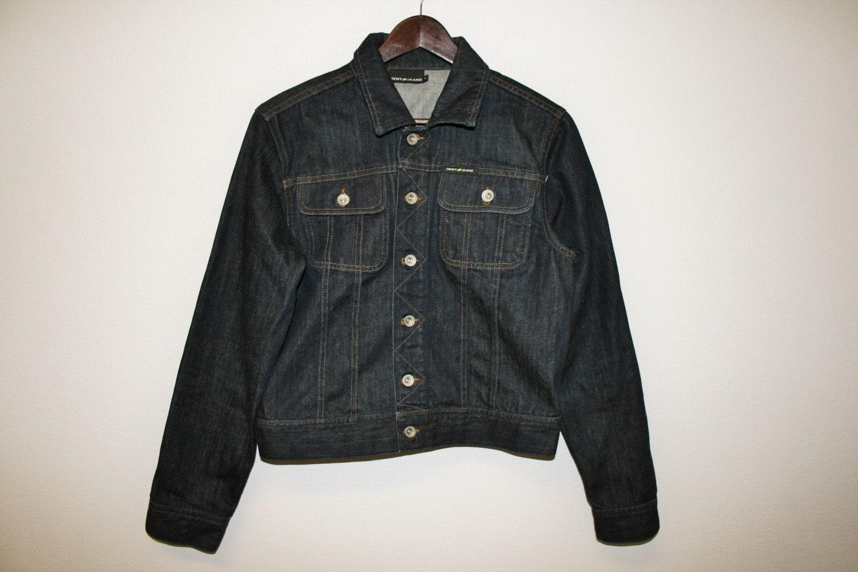 mens bleu denim veste marque dkny veste en jean taille. Black Bedroom Furniture Sets. Home Design Ideas