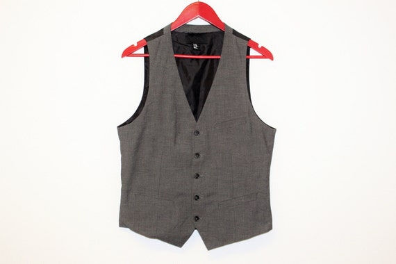Mens Gray Waistcoat/ Mens  Wedding Vest/ Formal V… - image 1