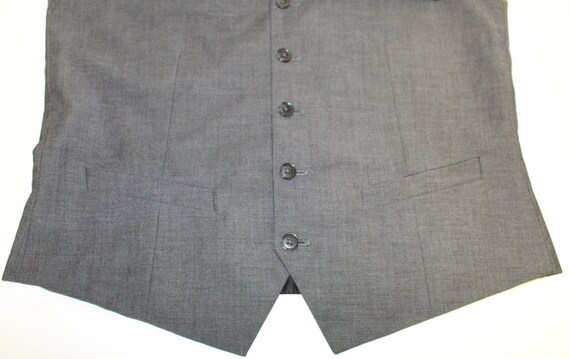 Mens Gray Waistcoat/ Mens  Wedding Vest/ Formal V… - image 2