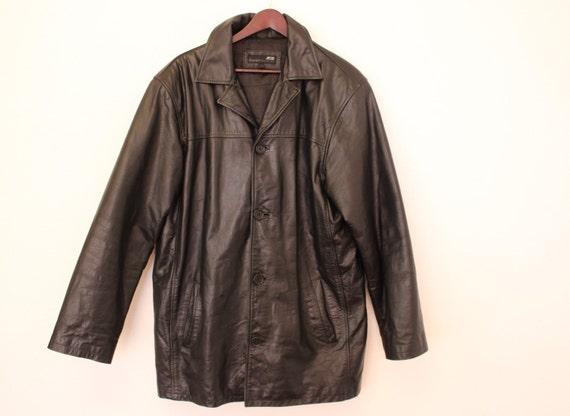 Jacket Long Genuine Leather Etsy Jones Mens Jack Black Y5Ixd6x