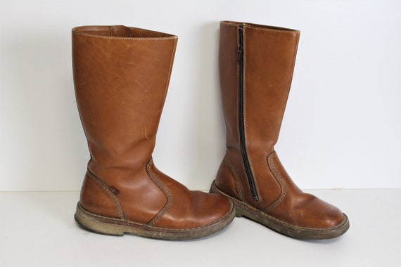 Brown Leather Boots Vintage DUCKFEET Boots Tan Bro
