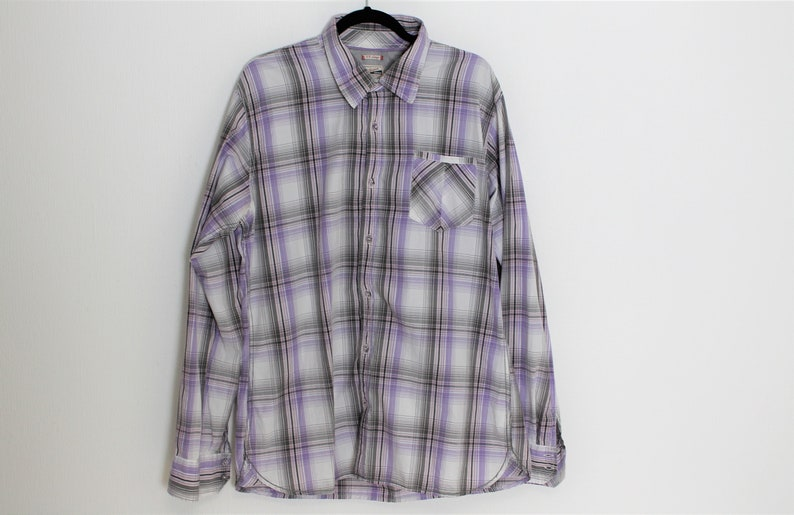5c377247c Mens Check Shirt Tommy Hilfiger Plaid Long Sleeve Mens Shirt | Etsy