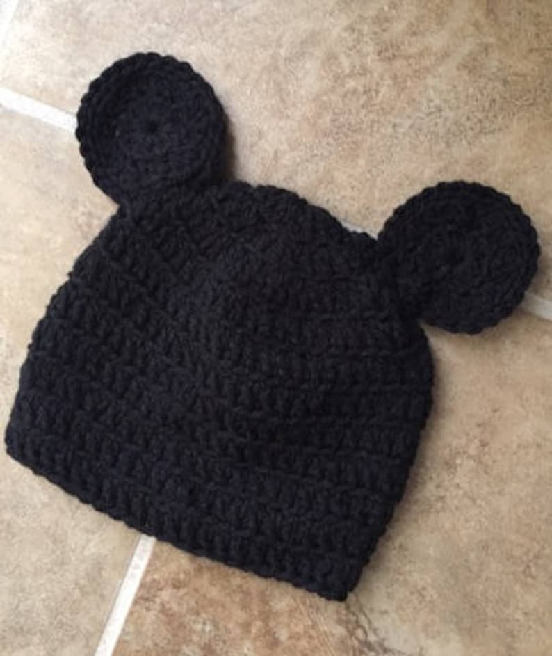 9a559a29cdb Mickey hat Crocheted Mickey Mouse hat handmade beanie