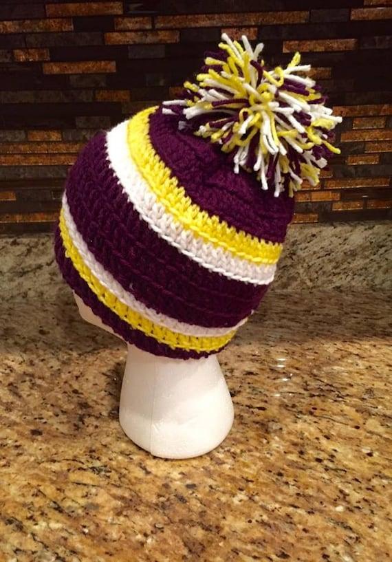 Crocheted Baltimore Ravens-Minnesota Vikings-LSUTigers  ef86dae3c