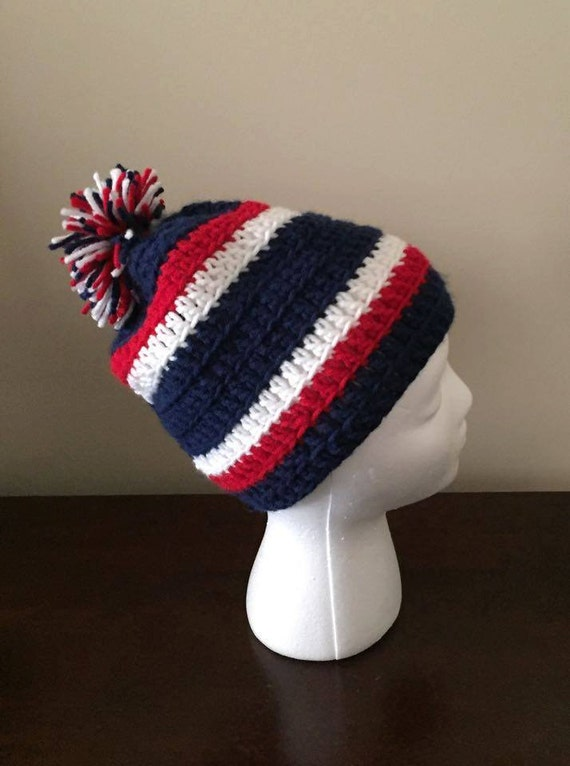 Crocheted New England Patriots Houston Texans Hat Beanie Etsy