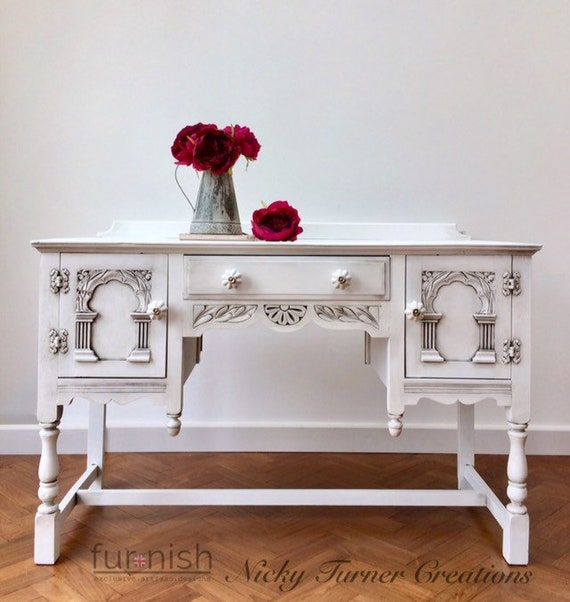 SOLD EDWARDIAN Oak Dressing Table Console Table Bedroom | Etsy
