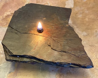 Oil Candle, Rock Oil Candle, Rustic Oil Candle