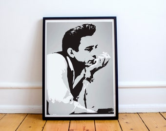 Johnny Cash Stylish Artwork Print Wall Art Home Decor A4 A3 A2 A1