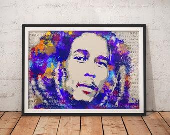 Bob Marley the Wailers Stylish Artwork Print Wall Art Home Decor A4 A3 A2 A1