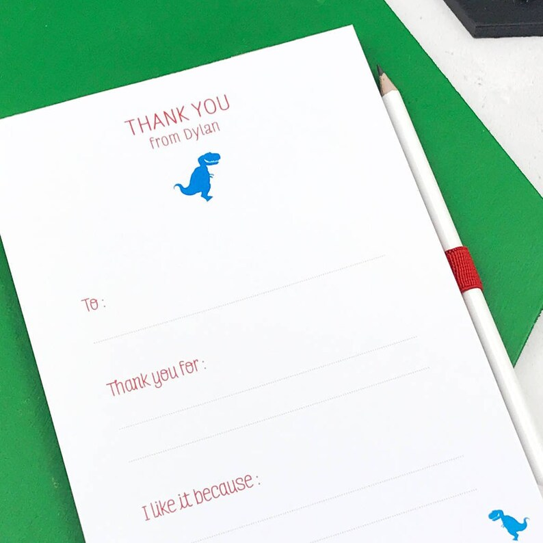 406b0b138b700 ON SALE Unicorn Thank You Notepad For Children - Stationery Gift - Custom  Stationery