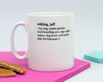 Custom Mug - Dictionary Definition Mug - Personalised Mug - Birthday Gift - Office Gift - Literary Gift - Book Lover Gift - Gift For Men