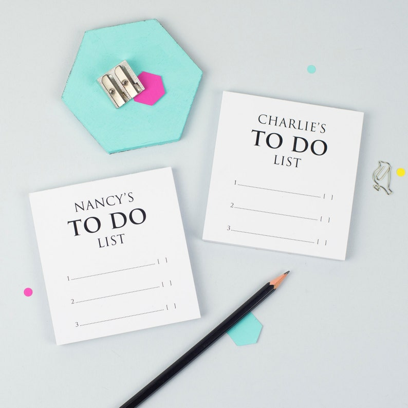 ON SALE Pair Of Mini To Do Lists Custom Notepad Gift For Kids Student Gift Organiser Planner Mini List Pad X Gift For Couple