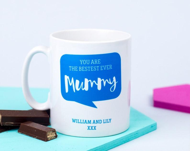 c6f1ee95bb Bestest Mummy Mug Personalised Mom Gift Custom Name Mug | Etsy