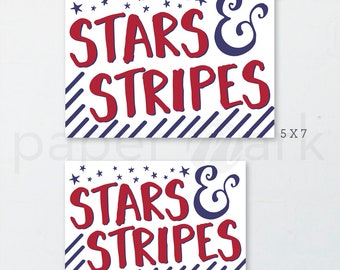 Patriotic Decor, 4th of July Decor, American Flag, Red White and Blue, Memorial Day, America, Stars and Stripes, Fourth of July, Home Decor