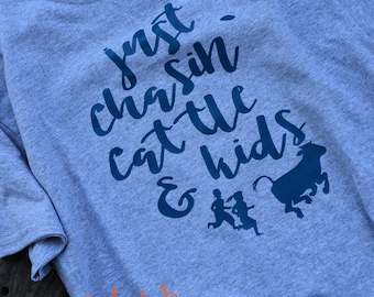 Just Chasin' Cattle and Kids T-Shirt! - Made to Order