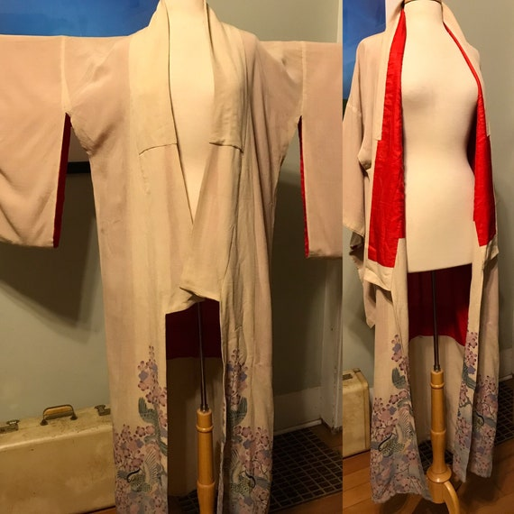 Mid-Century Japanese Kimono Robe done in gorgeous